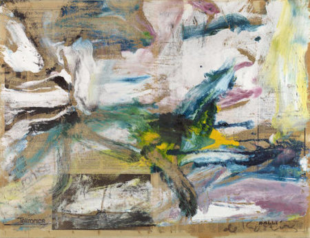Willem de Kooning-Untitled (White, Blue and Yellow Abstract Painting)-1976