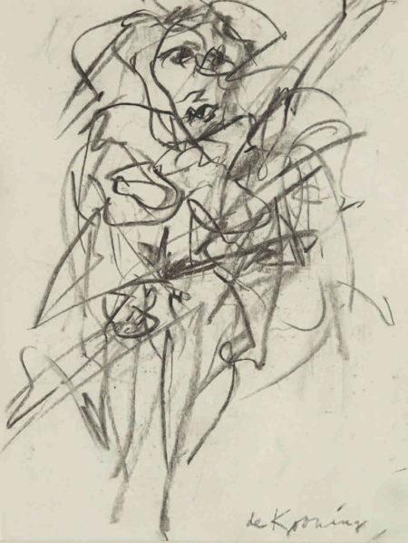 Willem de Kooning-Untitled (Woman)-