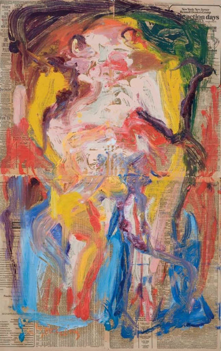 Willem de Kooning-Untitled (Woman, Oil on Panel)-1972