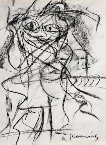 Willem de Kooning-Untitled (Woman Series)-1950