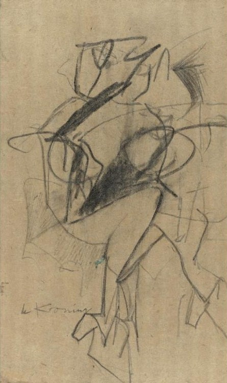 Willem de Kooning-Untitled (Woman Sitting)-1952