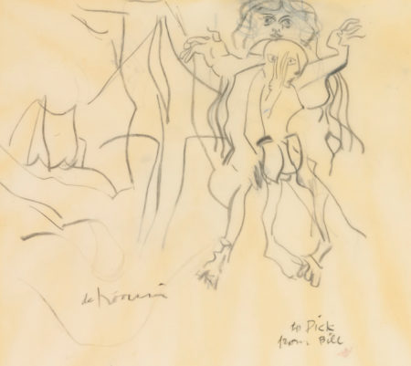 Willem de Kooning-Untitled (Woman, 'To Dick')-1969