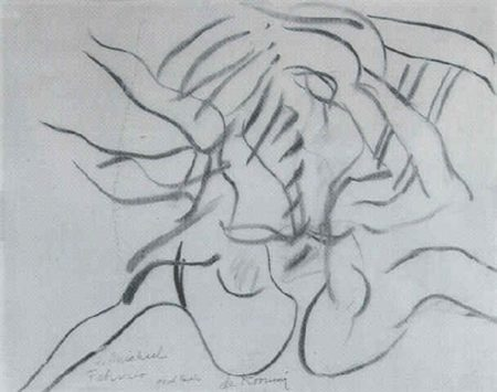 Willem de Kooning-Untitled (Woman with Spread Legs)-1967