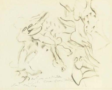 Willem de Kooning-Untitled (to Lou and Hilda)-