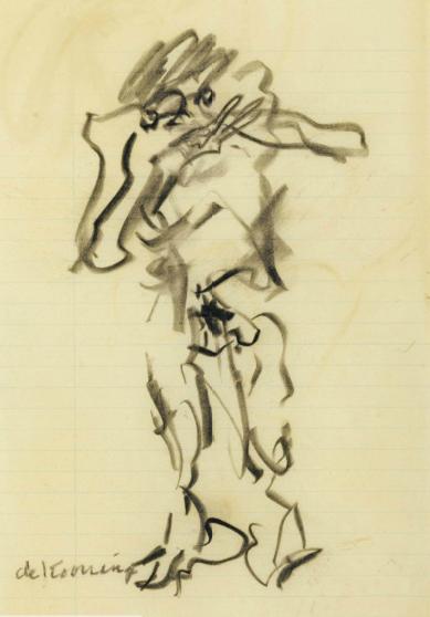 Willem de Kooning-Violinist-1970
