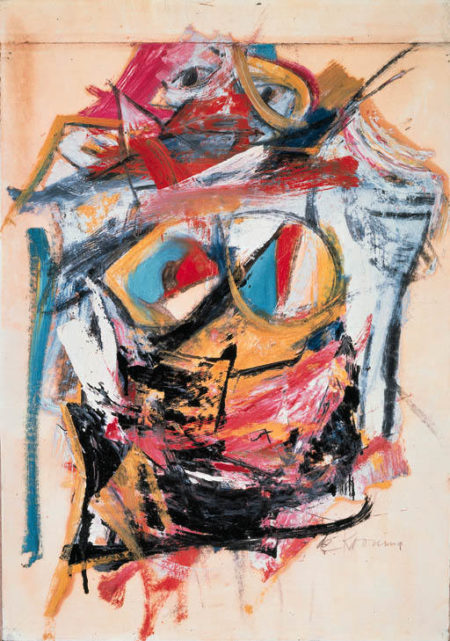 Willem de Kooning-Woman (Blue Eyes)-1953