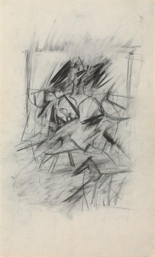 Willem de Kooning-Woman (Graphite on Paper)-1950