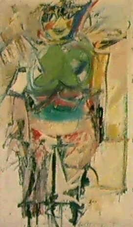 Willem de Kooning-Woman (Green)-1955