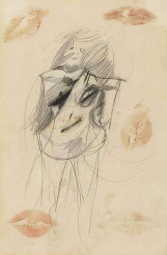 Willem de Kooning-Woman, Lipstick-1952