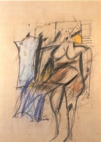 Willem de Kooning-Woman (Naked)-1951