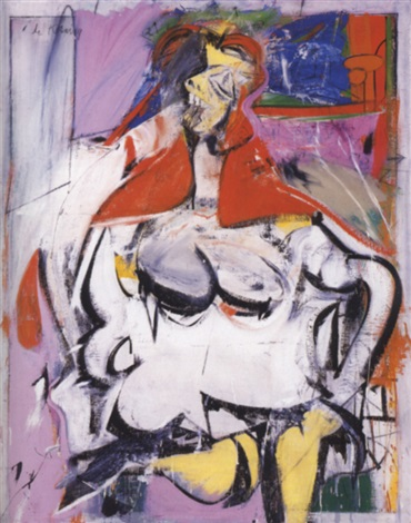 Willem de Kooning-Woman (Red Hair)-1949