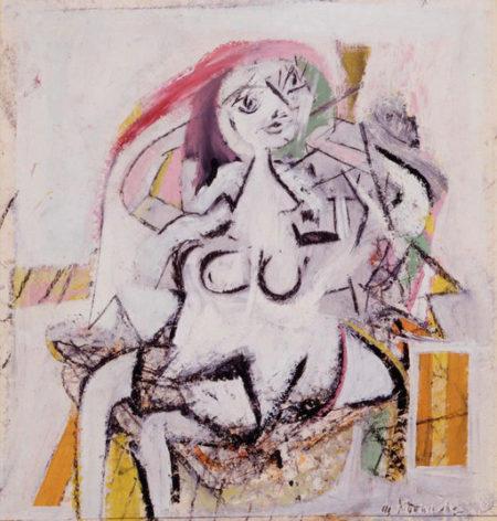 Willem de Kooning-Woman (Sitting)-1947