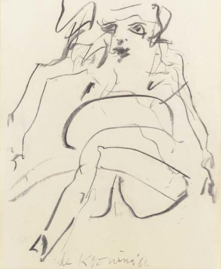 Willem de Kooning-Woman (Sitting)-1966