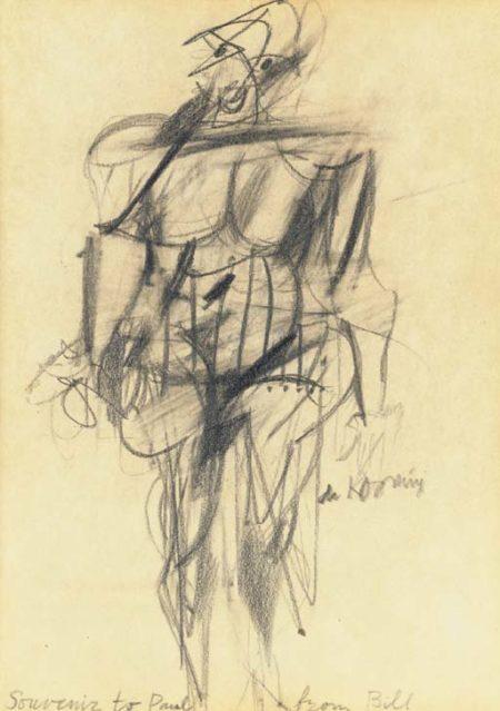 Willem de Kooning-Woman (Souvenir to Paul)-1953