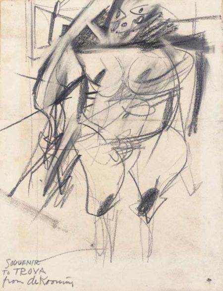 Willem de Kooning-Woman (Souvenir to Troya)-1953