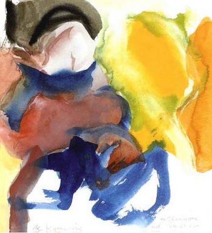 Willem de Kooning-Woman (Watercolour)-1965