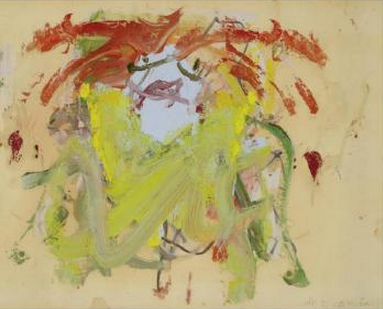 Willem de Kooning-Woman (Yellow Dress, Red Hair)-1964