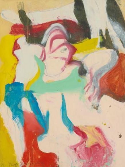 Willem de Kooning-Woman (Yellow, White, Red and Black Painting)-1965