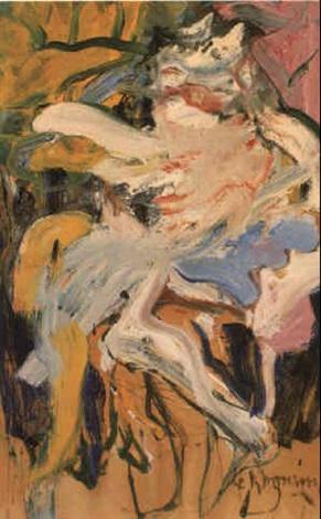 Willem de Kooning-Woman in Landscape V-1968