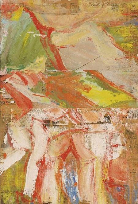 Willem de Kooning-Woman In a Landscape-1966