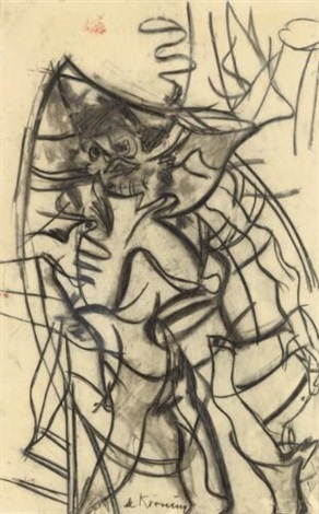 Willem de Kooning-Woman in a Rowboat-1965