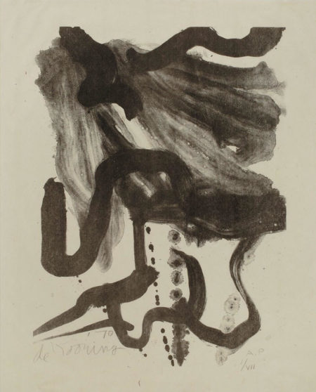 Willem de Kooning-Woman with Corset and Long Hair-1970