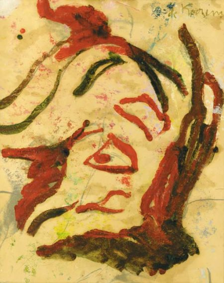 Willem de Kooning-Woman with Red Hair-1972