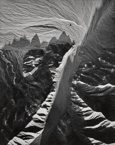William Garnett-Drywash with Alluvium, Number 6, Death Valley, California-1957