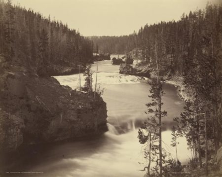 William Henry Jackson-Rapids Of The Yellowstone Above The Falls-1870