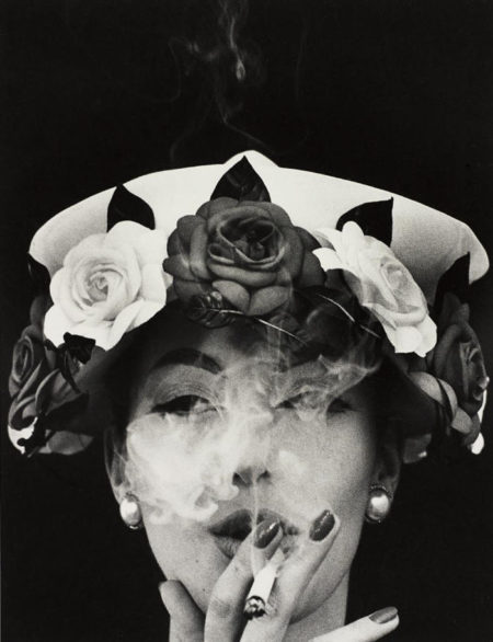 William Klein-Hat + 5 Roses, Paris (Vogue)-1956