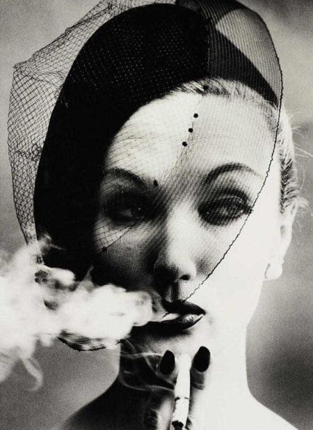 William Klein-Smoke + Veil, Paris (Vogue)-1958