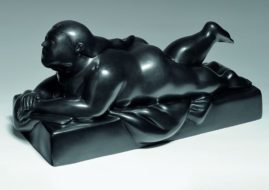 Woman Lying on Her Stomach 2006 Bronze 28x57x25 cm