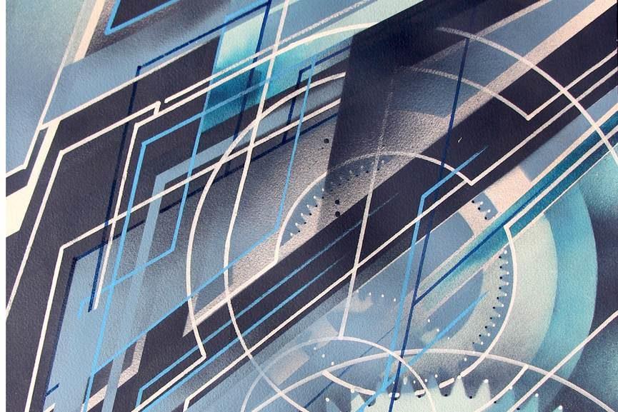 Xavier Magaldi - Mecafuturism, detail