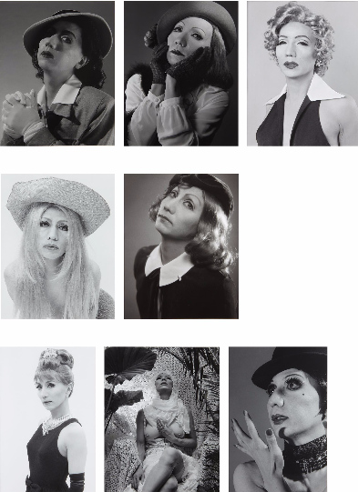 Yasumasa Morimura-Eight Works: i) Self-Portrait (b&w)/After Liza Minnelli ii) Self-Portrait (b&w)/After Sylvia Kristel, iii) Self-Portrait (b&w)/After Brigitte Bardot, iv) Self-Portrait (b&w)/After Greta Garbo v) Self-Portrait (b&w)/After Ingrid Bergman, vi) Self-Portrait (b&w)/After Audrey Hepburn, vii) Self-Portrait (b&w)/After Greta Garbo 2, viii) Self-Portrait (b&w)/After Marilyn Monroe-1996