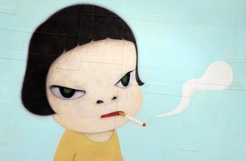 asia acrylic works at recent japanese new museum house drawings 2013 and 2016 york Yoshitomo Nara animals