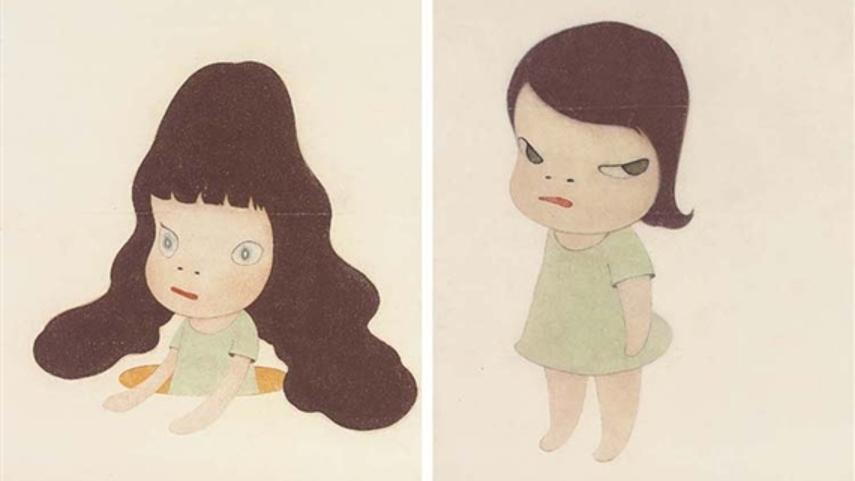 aomori works at the new tokyo museum shows drawings from 2013 at new york museum and new animals drawings 2013 Yoshitomo Nara