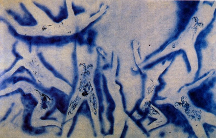 Yves Klein - People Begin to Fly, 1961 - Image via wikiartorg
