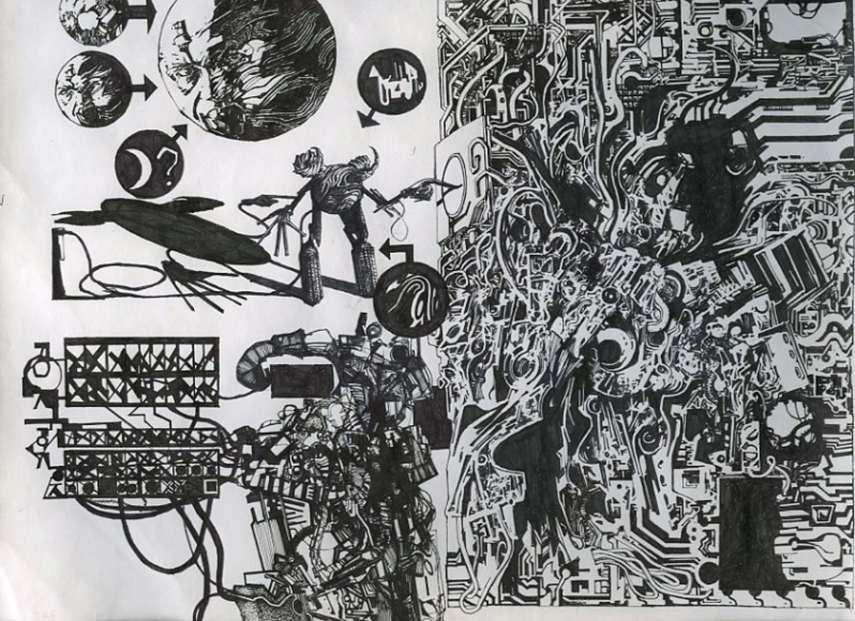 Zak Smith - Sketchbook Page, 2012