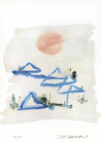 Zao Wou-Ki-Soleil Couchant (Sleeping Sun)-2006