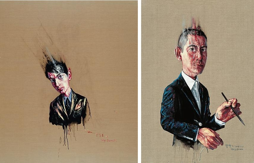 the chinese artist works are on exhibition in beijing hong kong and china gallery in 2013