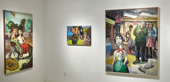 Zoltan Veevaete's exhibition Mass Movements at Robert Poulin, 2014
