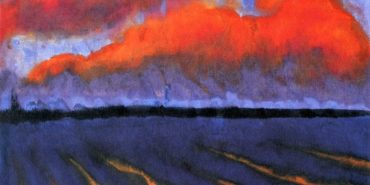 emil nolde- Evening Landscape North Frisia