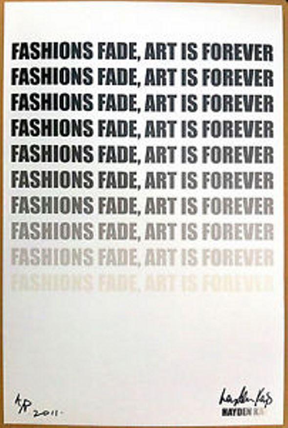 fashion fades