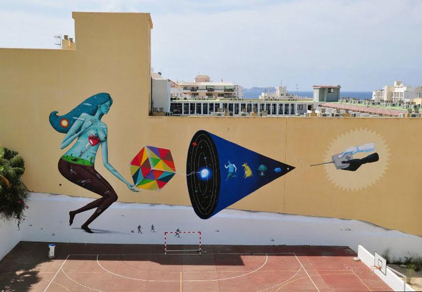 Street art duo