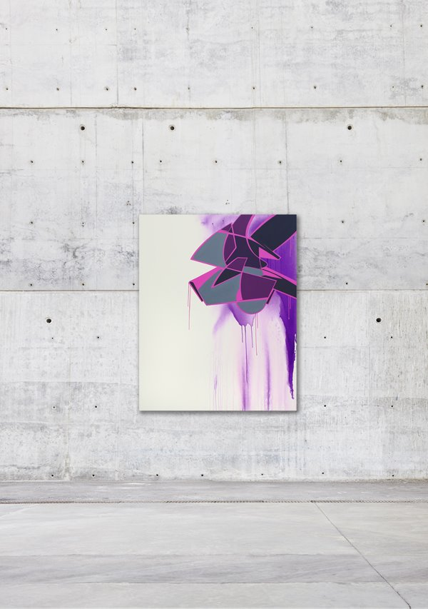 Reso - 'Ain't no smoke', acrylic on canvas (2014)