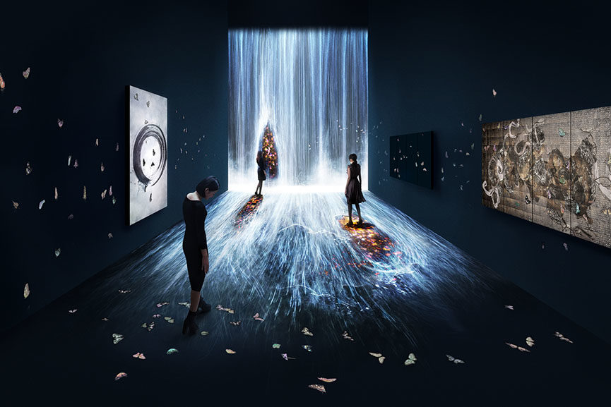popular teamlab interactive installations include dmm planets crystal universe and black light