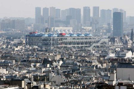Aerial view of the Centre Pompidou