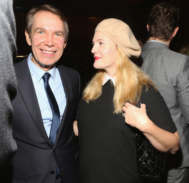 Jeff Koons and Drew Barrymore