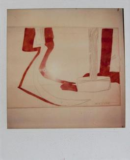 Andy Warhol, Hammer and Sickle Painting Detail, Polaroid Photograph
