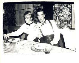 Andy Warhol, Photograph of James Curley and an Unidentified Man circa 1980